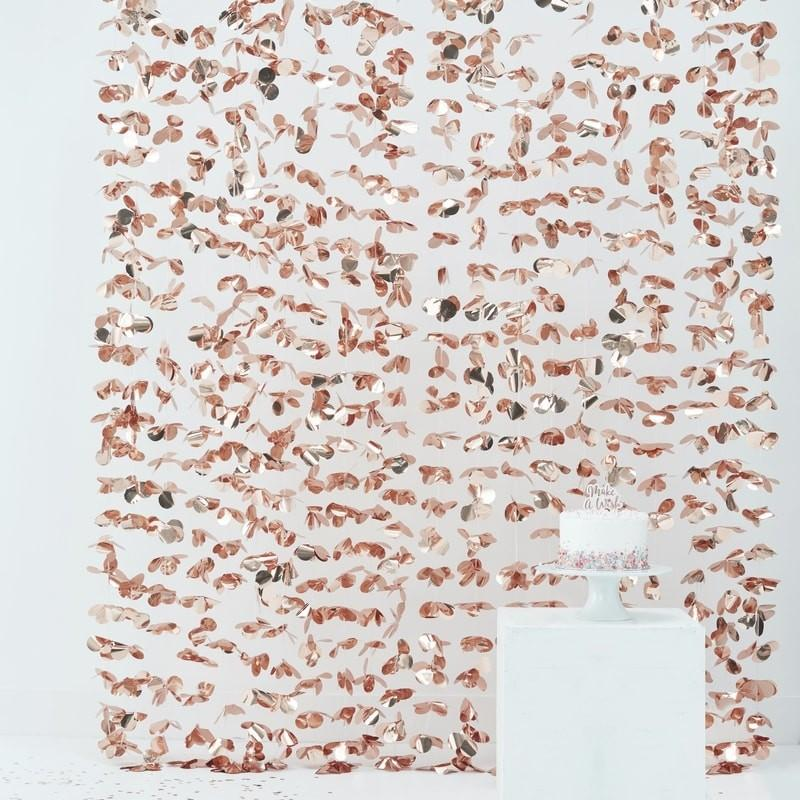 Ginger Ray - Rose Gold Petal Backdrop - pm-106- The Original Party Bag Company