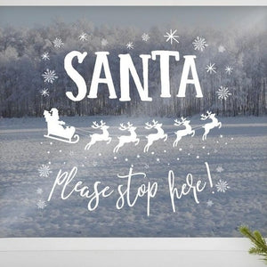 Ginger Ray - Santa Window Sticker - NV-239- The Original Party Bag Company