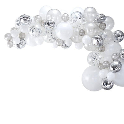 Ginger Ray - Silver Balloon Arch Garland - ba-302- The Original Party Bag Company