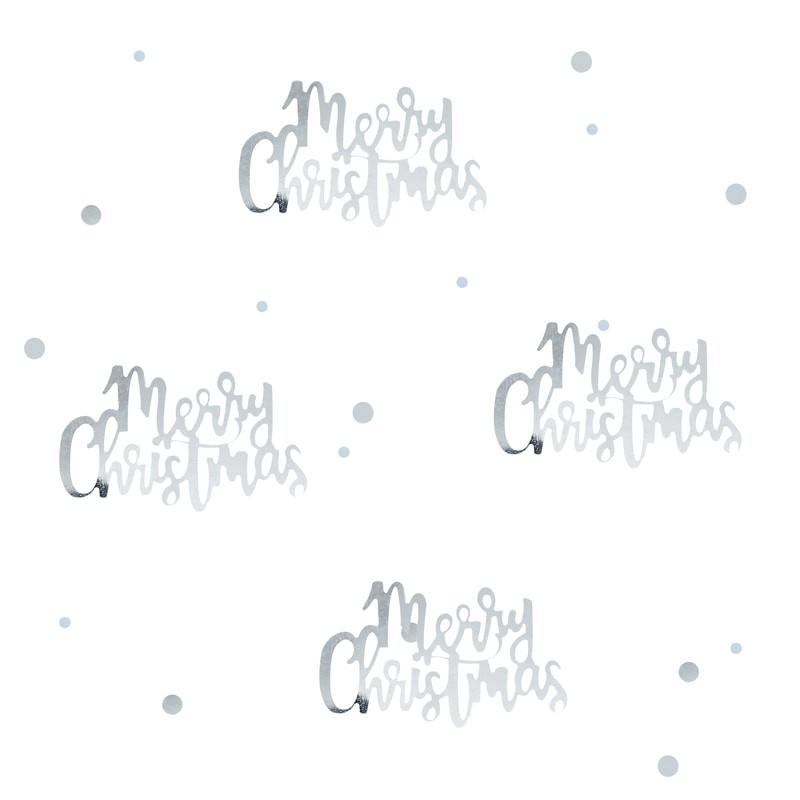 Ginger Ray - Silver Script Christmas Confetti - SL-328- The Original Party Bag Company