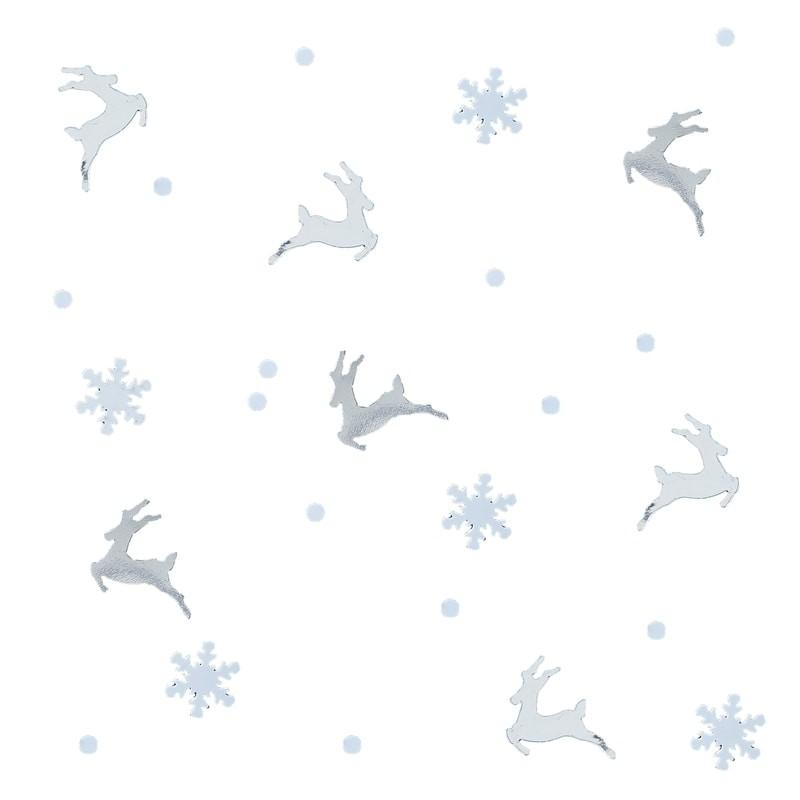 Ginger Ray - Silver Stag And Snowflake Confetti - SL-317- The Original Party Bag Company