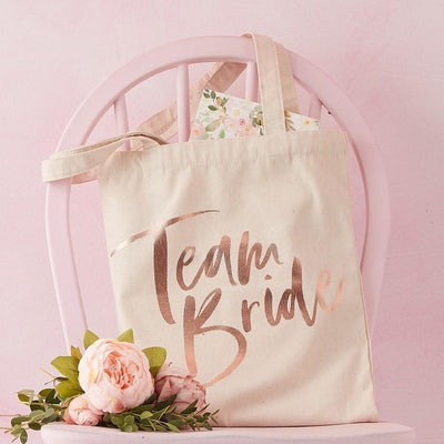 Ginger Ray - Team Bride Printed Tote Bag - fh-224- The Original Party Bag Company