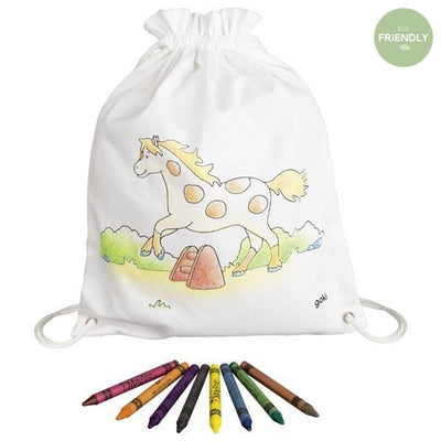 Gollnest and Kiesel - Colour In Horse Rucksack - 58744- The Original Party Bag Company