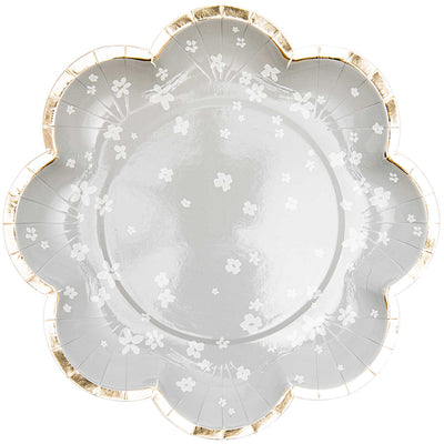 Grey Flower Petal Plates by Rico Design