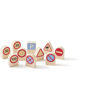 Kids Concept - AIDEN Traffic Signs (pk10) - 1000343- The Original Party Bag Company