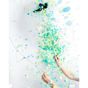 Knot and Bow - Blue Gender Reveal Confetti Balloon - JCB1-BM- The Original Party Bag Company