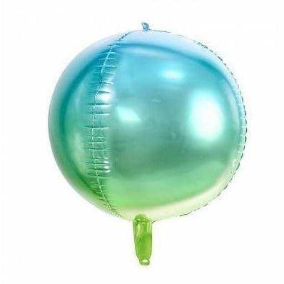 Blue and Green Ombre Foil ball balloon
