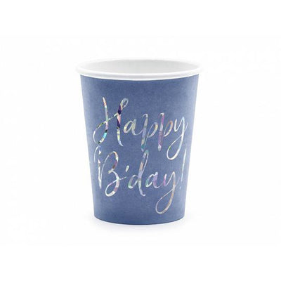 Happy B'day party Cups in blue