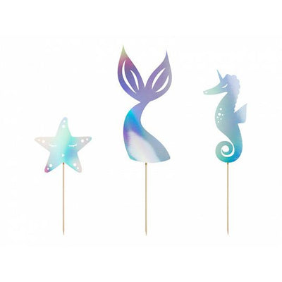 Mermaid Cake Toppers Party deco