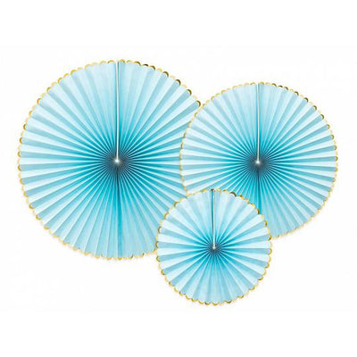 Light Blue Decorative Rosettes Party Deco