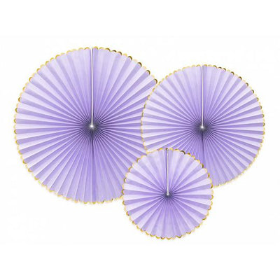Lilac decorative rosettes by Party Deco