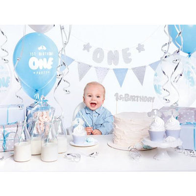 Blue 1st Birthday Party In A Box