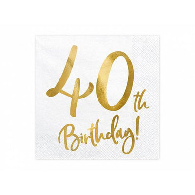40th Birthday Party Paper napkins by Party Deco