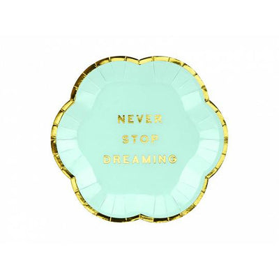 Never Stop Dreaming Party Paper Plates