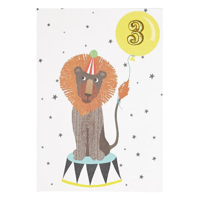 3rd Birthday Card Lion