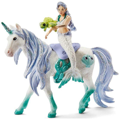 Mermaid riding on the sea unicorn Schleich figure