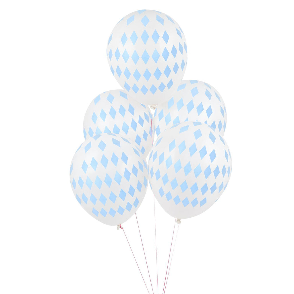 "My Little Day - 12"" Blue Diamond Balloons (Pk5) - MLD-BATATLOBLCL- The Original Party Bag Company"