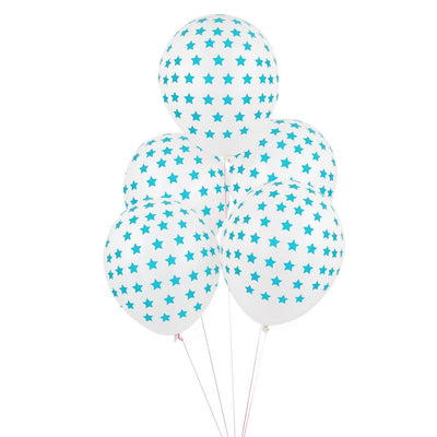 "My Little Day - 12"" Blue Star Balloons (Pk5) - MLD-BATATETBL- The Original Party Bag Company"