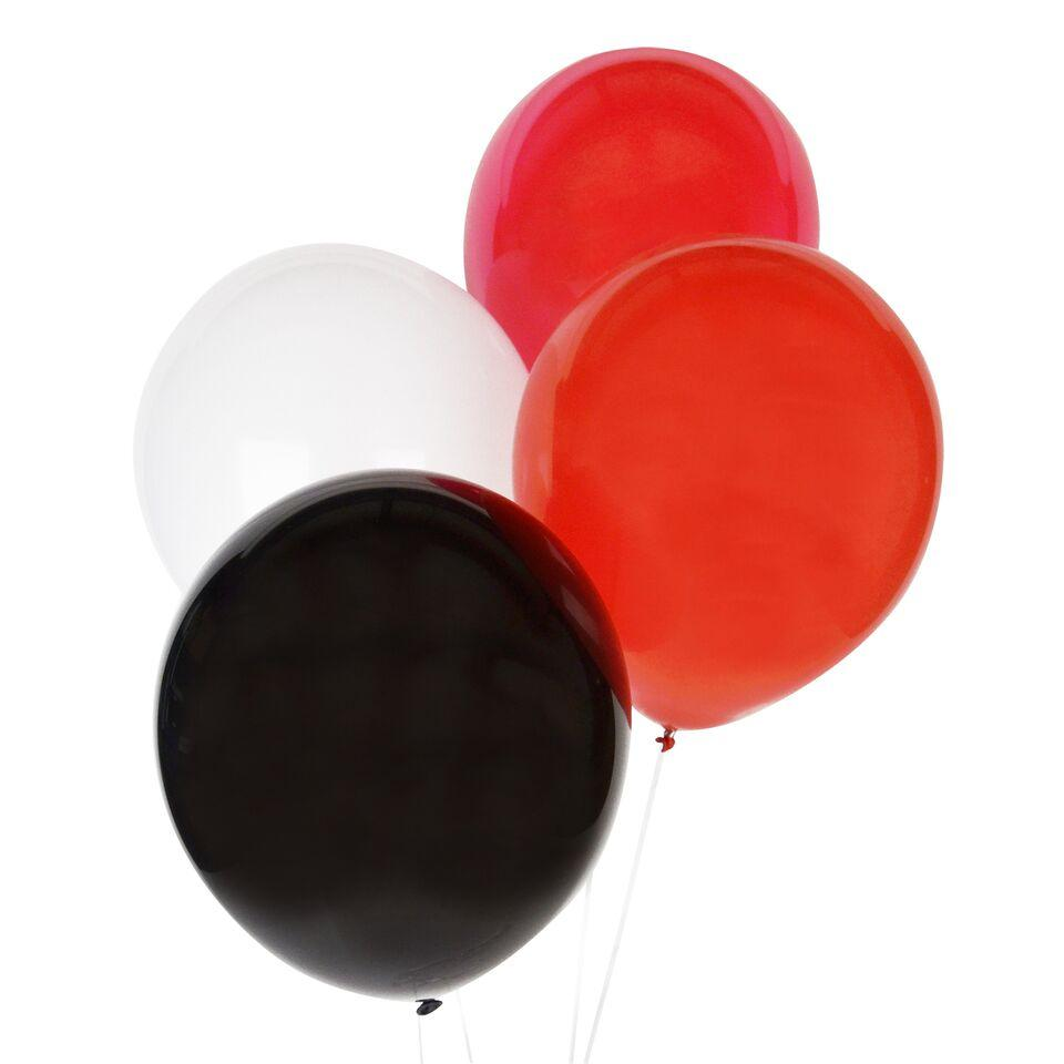 "My Little Day - 12"" Red Mix Balloons (Pk10) - MLD-BATRIONORO- The Original Party Bag Company"