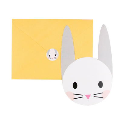 My Little Day - Baby Bunny Invitations (Pk8) - mld-invit-minilapi- The Original Party Bag Company