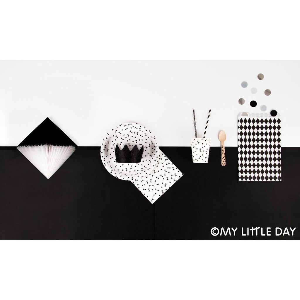 My Little Day - Black Tie Gift Tags (Pk12) - MLD-GTNONO- The Original Party Bag Company