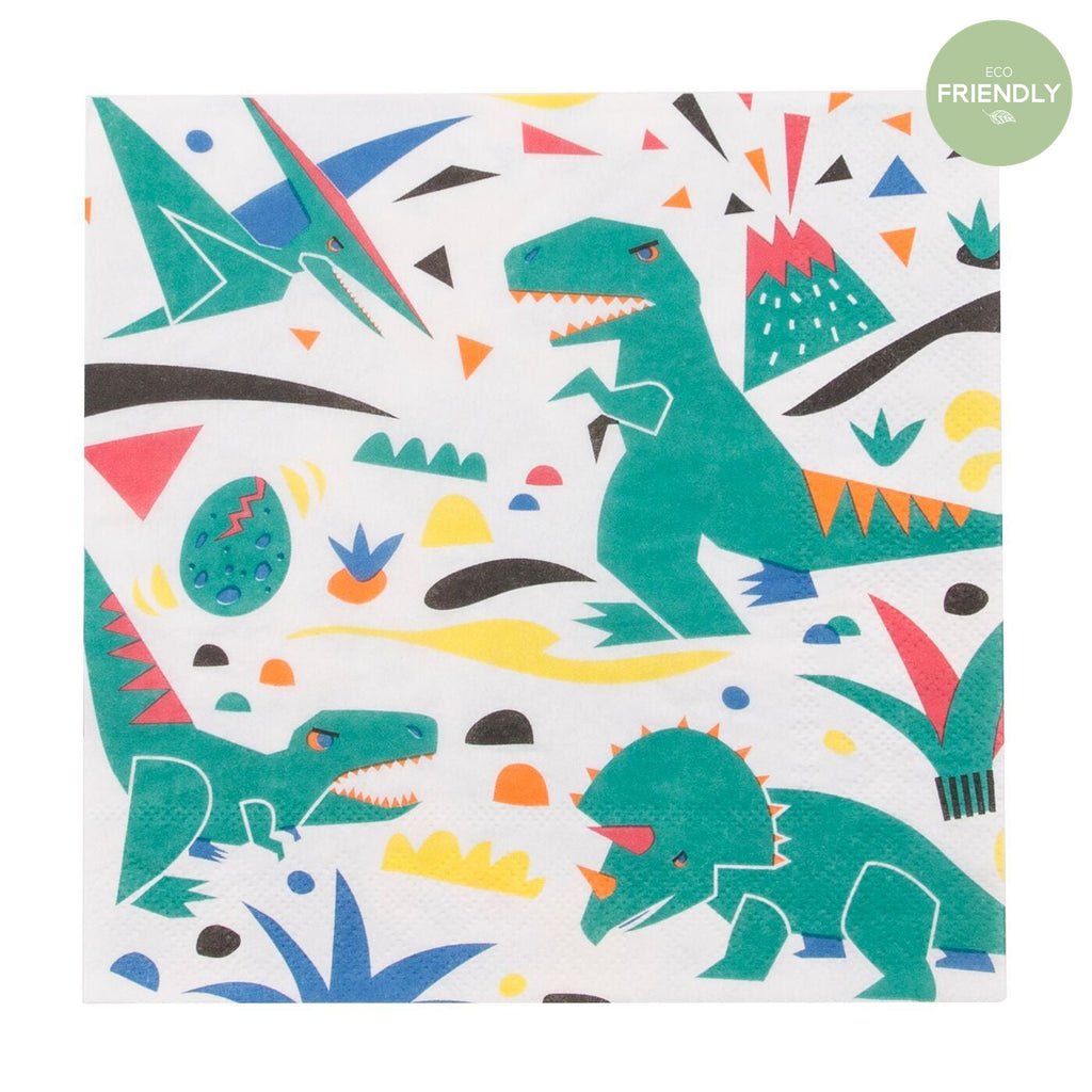 My Little Day - Dinosaur Party Napkins (Pk20) - MLD-SEDINO- The Original Party Bag Company