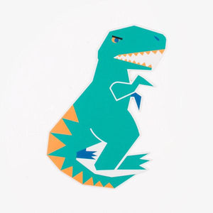 My Little Day - Dinosaur Shape Party Invitations (Pk8) - MLD-INVIT-DINO2- The Original Party Bag Company