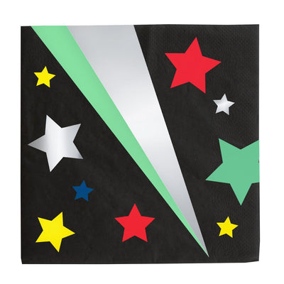 My Little Day - Disco Star Napkins (Pk16) - mld-seetdismt- The Original Party Bag Company