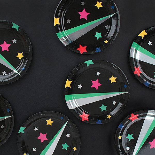 My Little Day - Disco Star Plates (Pk8) - mld-asetdismt- The Original Party Bag Company