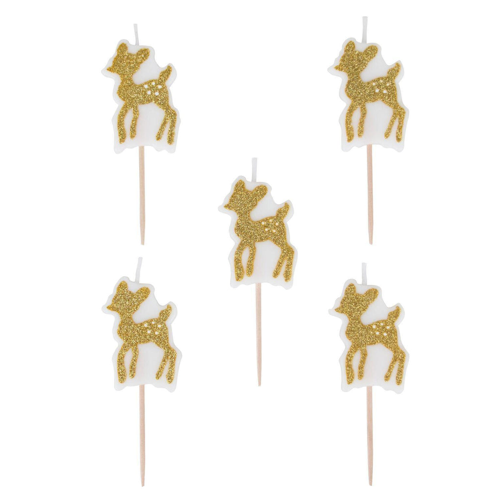 My Little Day - Fawn Glitter Candles (Pk5) - mld-boufaonmt- The Original Party Bag Company