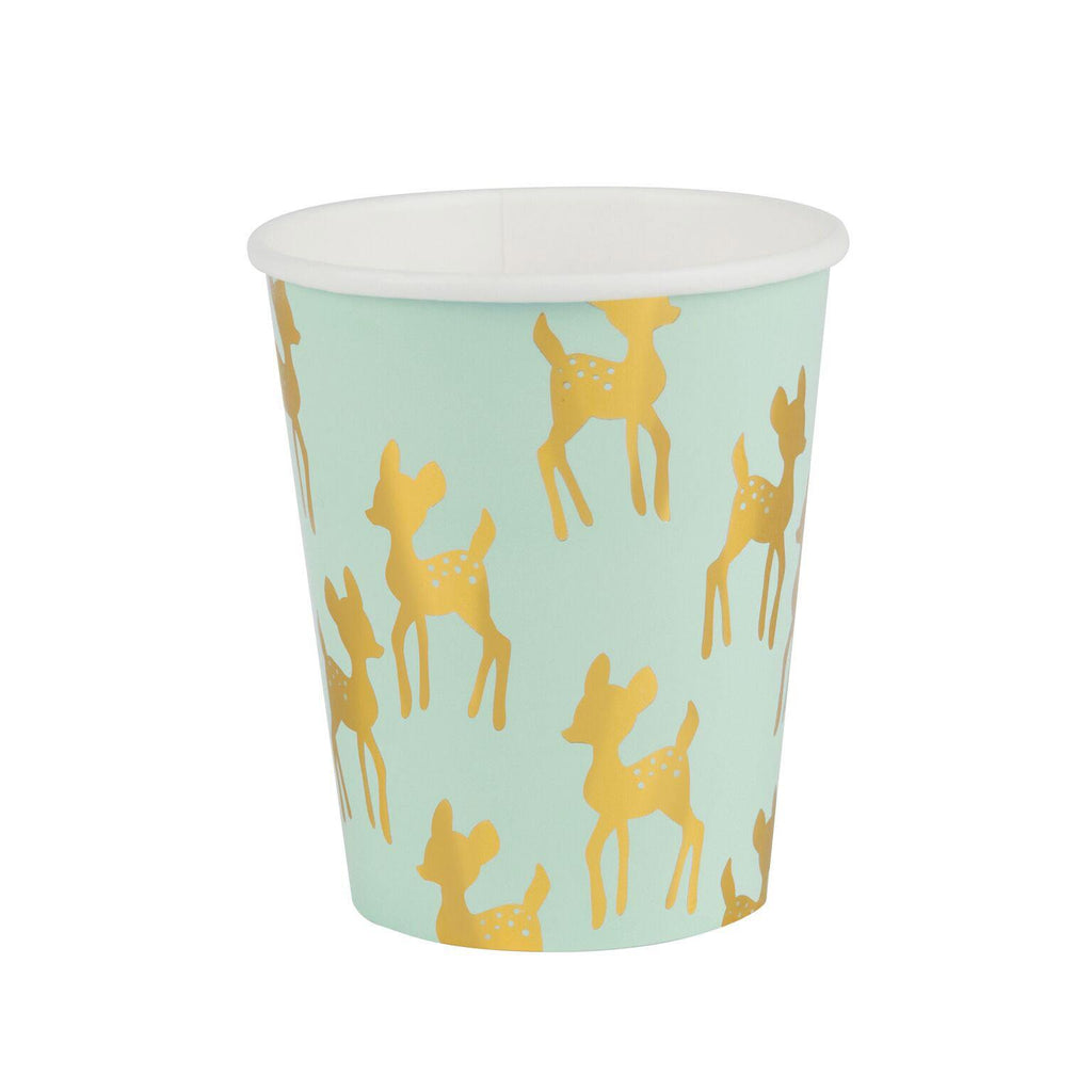 My Little Day - Fawn Paper Cups (Pk8) - mld-gofaonmt- The Original Party Bag Company