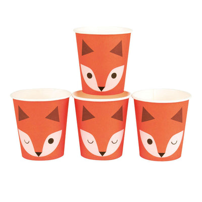 My Little Day - Fox Cups (Pk8) - mld-gominifox- The Original Party Bag Company