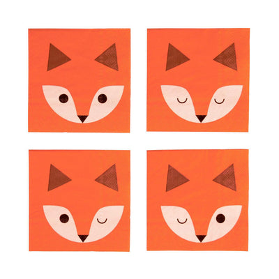 My Little Day - Fox Napkins (Pk20) - mld-seminifox- The Original Party Bag Company