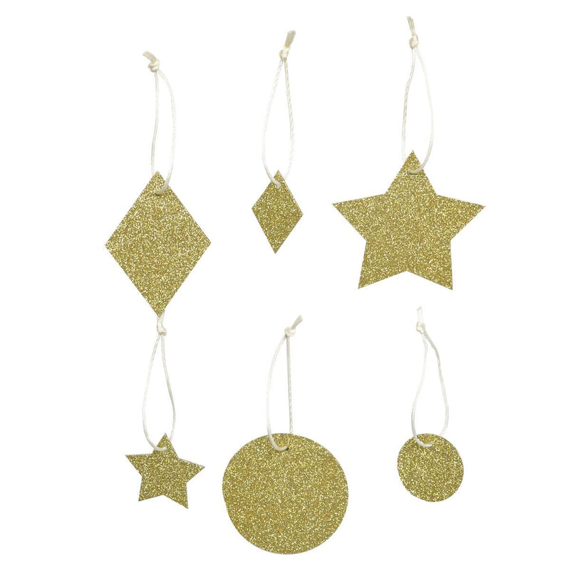 My Little Day - Gold Glitter Decorations (Pk6) - MLD-PAGLGEOOR- The Original Party Bag Company