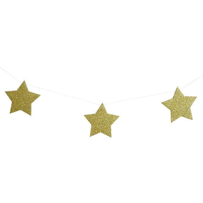 My Little Day - Gold Glitter Star Garland - MLD-GUIGLETOR- The Original Party Bag Company