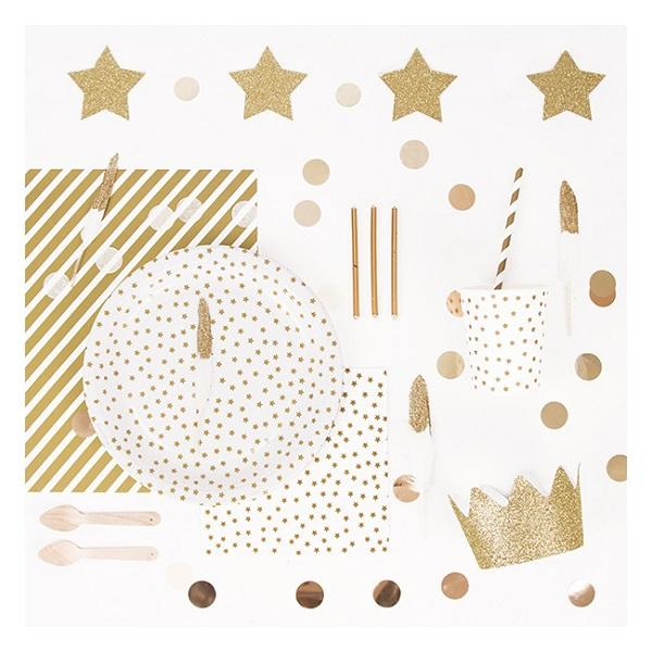 My Little Day - Gold Star Paper Straws (Pk25) - MLD-PAETOR- The Original Party Bag Company