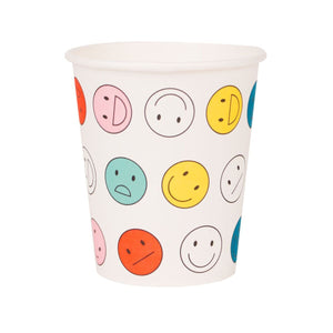 My Little Day - Happy Faces Cups (Pk8) - MLD-GOSMILE- The Original Party Bag Company