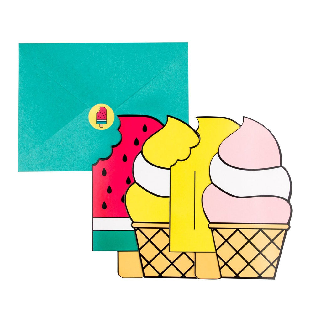 My Little Day - Ice Cream Party Invitations (Pk8) - mld-icecreaminvites- The Original Party Bag Company