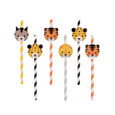 My Little Day - Jungle Paper Straws (Pk12) - MLD-PAMINIFELI- The Original Party Bag Company