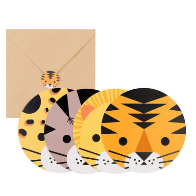 My Little Day - Jungle Party Invitations (Pk8) - MLD-INVIT-MINIFELI- The Original Party Bag Company