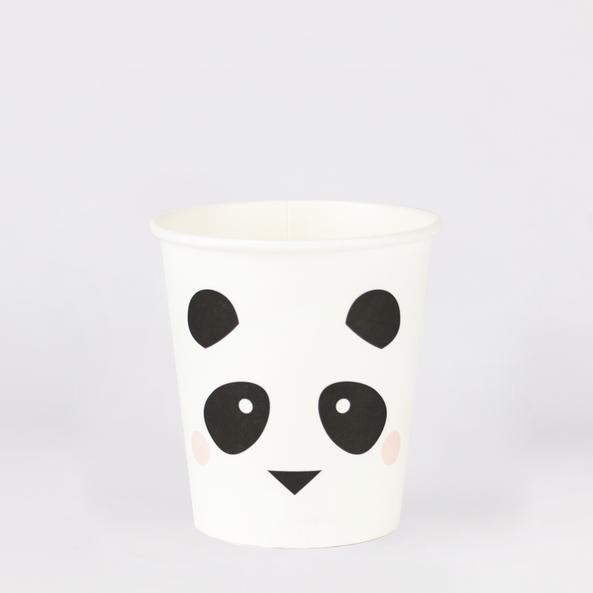 My Little Day - Mini Panda Party Cups (pk8) - mld-gominipand- The Original Party Bag Company
