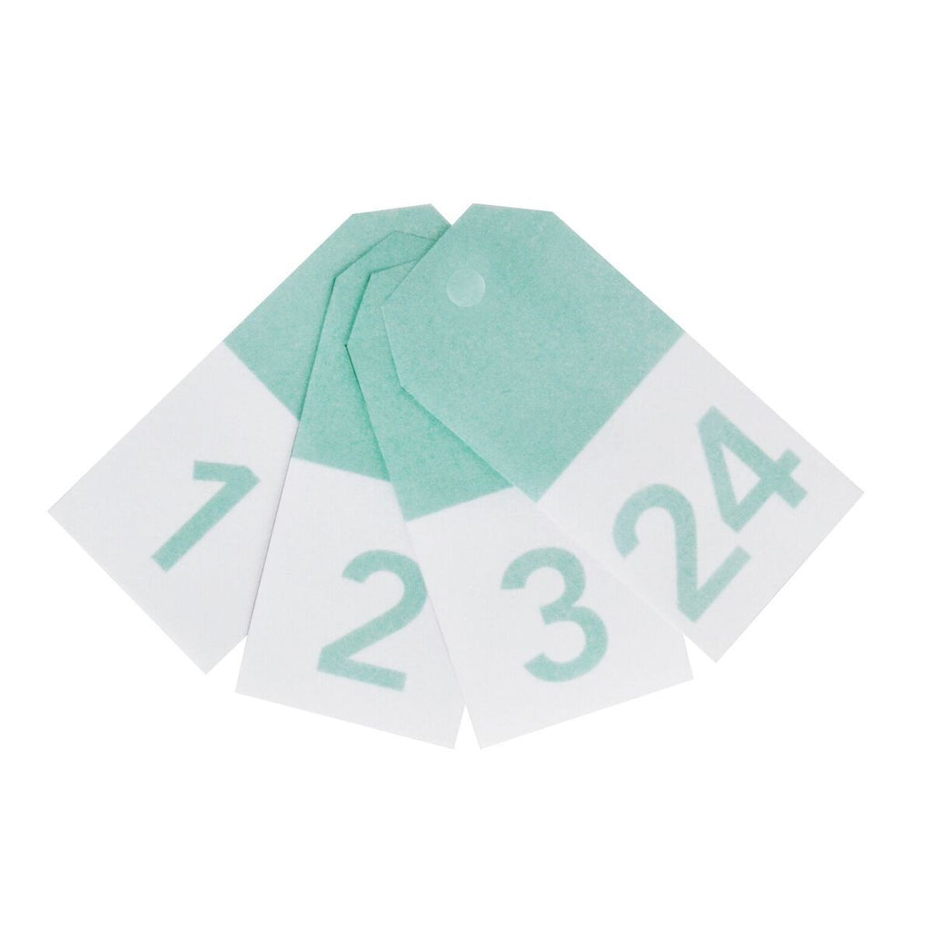 My Little Day - Mint Number Gift Tags (Pk24) - MLD-GTCHIVEAC- The Original Party Bag Company
