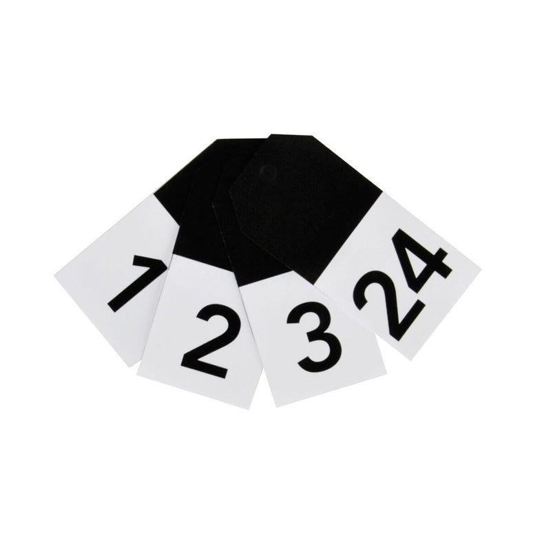 My Little Day - Monochrome Number Gift Tags (Pk24) - MLD-GTCHINO- The Original Party Bag Company