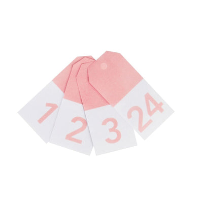My Little Day - Pink Number Gift Tags (Pk24) - MLD-GTCHIRO- The Original Party Bag Company