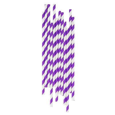 My Little Day - Purple Paper Straws (Pk25) - MLD-PARAVIO- The Original Party Bag Company