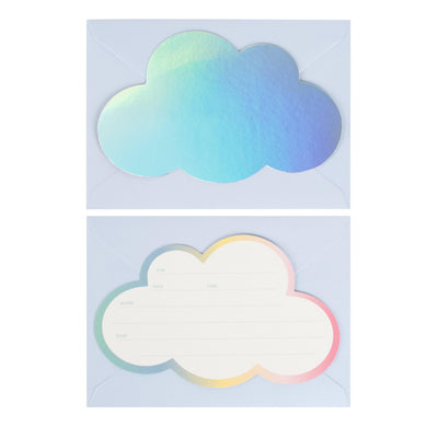 My Little Day - Rainbow Cloud Invitations (Pk8) - MLD_INVIT-NUAGE- The Original Party Bag Company
