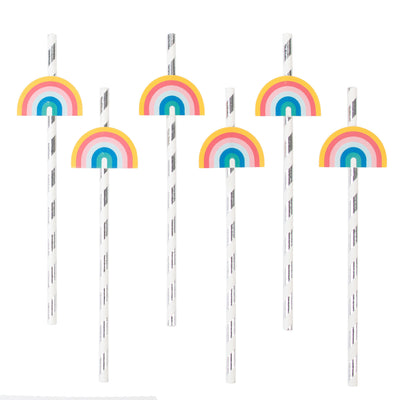 My Little Day - Rainbow Paper Straws (Pk12) - MLD-PAAREC- The Original Party Bag Company