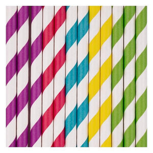 My Little Day - Rainbow Paper Straws (Pk25) - MLD-PARAMULTI- The Original Party Bag Company