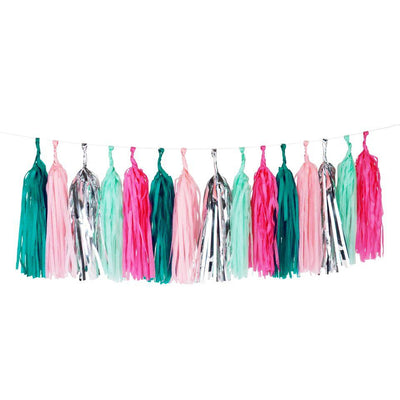 My Little Day - Seapunk Tassel Garland - MLD-TASSELSEA- The Original Party Bag Company