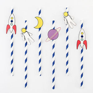 My Little Day - Space Paper Straws (Pk12) - MLD-PACOSMO- The Original Party Bag Company